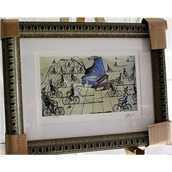 Salvador Dali Signed Limited Edition - Study for Sentimental Colloquy