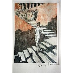 Original Louis Icart Lithographs from Le Faust suite - Waiting Below