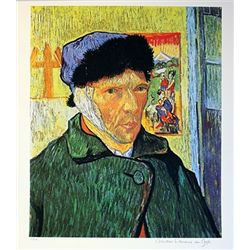 Limited Edition Van Gogh- Self Portrait with Bangaded Ear - Collection Domaine Van Gogh