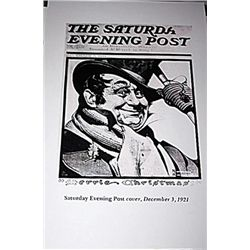 Norman Rockwell Lithograph-Saturday Evening Post Cover, Dec. 3, 1921
