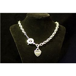Lady's Fancy Tiffany Sterling Silver Necklace