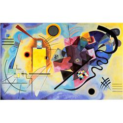 Yellow Red and Blue - Kandinsky - Limited Edition on Canvas