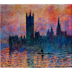 Houses Parliament - Monet - Limited Edition on Canvas
