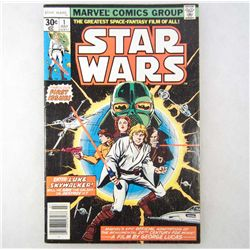 1977 STAR WARS NO. 1 COMIC BOOK - MARVEL COMICS - 30 CENT COVER