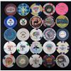 LOT OF 25 OBSOLETE UNITED STATES GAMBLING CASINO POKER CHIPS