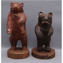 TWO SERI WOODCARVINGS