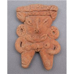 PRE-COLUMBIAN POTTERY FIGURE   (FREE SHIPPING THIS AUCTION ONLY!!!)