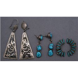 COLLECTION OF EARRINGS   (FREE SHIPPING THIS AUCTION ONLY!!!)