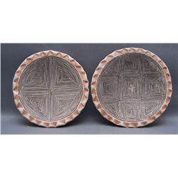 TWO ACOMA PLATES   (FREE SHIPPING THIS AUCTION ONLY!!!)