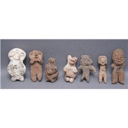 COLLECTION OF MINIATURE PRE-COLUMBIAN FIGURES   (FREE SHIPPING THIS AUCTION ONLY!!!)
