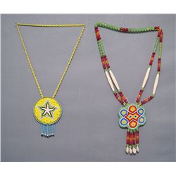 TWO PLAINS NECKLACES   (FREE SHIPPING THIS AUCTION ONLY!!!)
