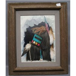 NAVAJO PAINTING   (FREE SHIPPING THIS AUCTION ONLY!!!)