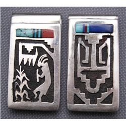 TWO HOPI MONEY CLIPS   (FREE SHIPPING THIS AUCTION ONLY!!!)
