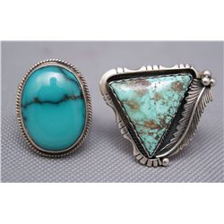 TWO NAVAJO RINGS   (FREE SHIPPING THIS AUCTION ONLY!!!)