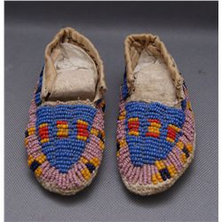 PLAINS BEADED MOCCASINS   (FREE SHIPPING THIS AUCTION ONLY!!!)