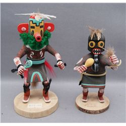 TWO NAVAJO KACHINAS   (FREE SHIPPING THIS AUCTION ONLY!!!)