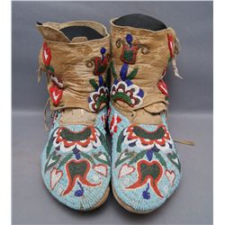 NEZ PERCE BEADED MOCCASINS (FREE SHIPPING THIS AUCTION ONLY!!!)