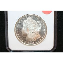 1881-S Silver Morgan $1, NGC Graded MS63 DPL