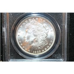 1885 Silver Morgan $1, PCGS Graded MS64