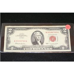 1963 United States Note $2, Red Seal