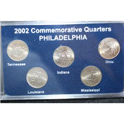 "2002 US Commerative State Quarter Proof Set, ""P"" Mint Coins, BU"