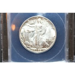 1944-D Walking Liberty Half Dollar, ANACS Graded MS62