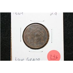 1864 Two Cent Piece, Low Grade