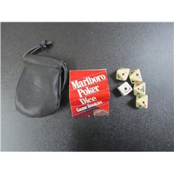 Marlboro Dice Bag & Dice Game