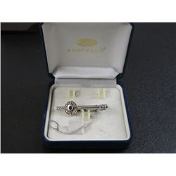 Fratello Tie Clasp In Box, Missing Cufflinks