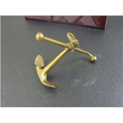 Unique Brass Mini Ship Anchor, Heavy