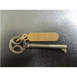 Vintage German Hotel Key With Brass Room Number Attached - Late 40's, to 50's