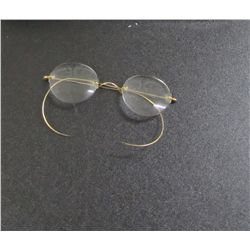 Vintage Round Wire Style Bifocals - May Be Gold, Markings are Too Worn To Read