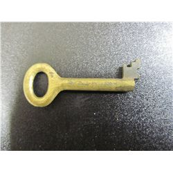 Vintage Brass Skeleton House Key From Germany