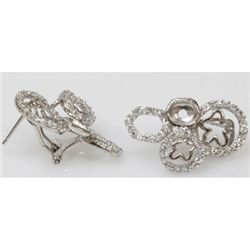 Natural 6.29g CZ Earrings .925 Sterling Silver