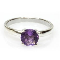 Natural 1.5ctw Amethtyst .925 Sterling Silver Ring