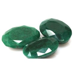 Natural 281.5ctw African Emerald Oval (3) Stone