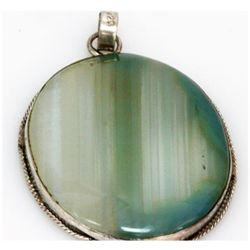 Natural 115.44 ctw Semi Precious .925 Sterling Pendant