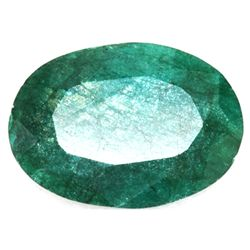 African Emerald Loose Gems 73.29ctw Long Oval Cut