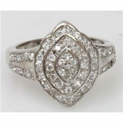 Natural 5.3g CZ Ring .925 Sterling Silver