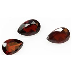 Natural 5.09ctw Garnet Pear Shape 6x9 (3) Stone