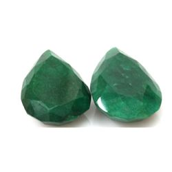 Natural 202.25ctw African Emerald Pear Shape (2) Stone
