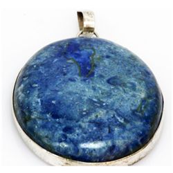 Natural 169.73 ctw Semi Precious .925 Sterling Pendant