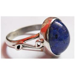 Natural 4.44 g Tanzanite Oval .925 Sterling Silver Ring
