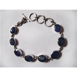 Natural 12.32g Tanzanite Oval Bracelet .925 Sterling