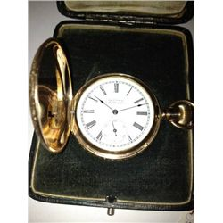 VINTAGE AMERICAN WALTHAM GOLD PLATED OCKETWATCH IN ORIGINAL BOX, 4883239