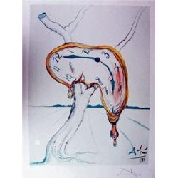 "Dali ""Tearful Soft Watch"" Limited Edition Lithograph, 33""x22.5"" W/Coa"