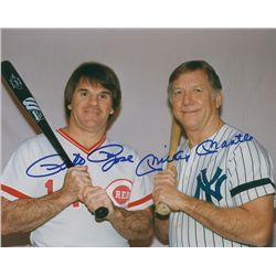 Mickey Mantle and Pete Rose