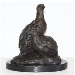 Brilliant Bronze Sculpture Partridges