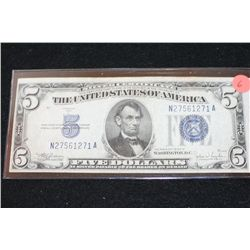 1934-D US Silver Certificate $5, Blue Seal