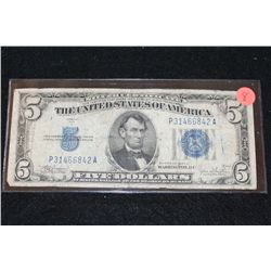1934-C US Silver Certificate $5, Blue Seal